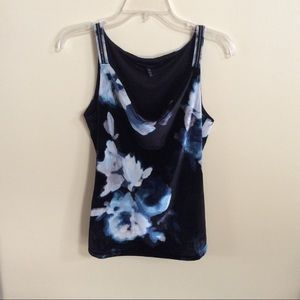 Flowered Velvet Cami
